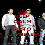 KEEP CALM AND GO TO  SAMBELÉM - Personalised Poster A4 size