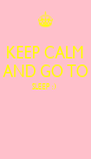 KEEP CALM AND GO TO SLEEP :)    - Personalised Poster A4 size