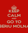 KEEP CALM AND GO TO TIBERIU MOLNAR - Personalised Poster A4 size