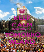 KEEP CALM AND GO TO  TOMORRO WLAND - Personalised Poster A4 size