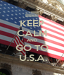 KEEP CALM AND GO TO  U.S.A. - Personalised Poster A4 size
