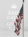 KEEP CALM AND GO TO USA - Personalised Poster A4 size