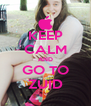 KEEP CALM AND GO TO ZUID - Personalised Poster A4 size