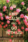 KEEP CALM AND GO WITH US! - Personalised Poster A4 size
