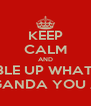 KEEP CALM AND GOBBLE UP WHATEVER PROPAGANDA YOU ARE FED - Personalised Poster A4 size