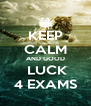 KEEP CALM AND GOOD  LUCK 4 EXAMS - Personalised Poster A4 size