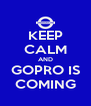 KEEP CALM AND GOPRO IS COMING - Personalised Poster A4 size