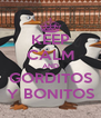 KEEP CALM AND GORDITOS Y BONITOS - Personalised Poster A4 size