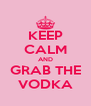 KEEP CALM AND GRAB THE VODKA - Personalised Poster A4 size
