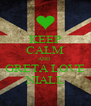 KEEP CALM AND  GRETA LOVE NIALL - Personalised Poster A4 size