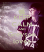 KEEP CALM AND Greyson loves - Personalised Poster A4 size