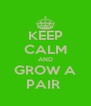 KEEP CALM AND GROW A PAIR  - Personalised Poster A4 size