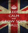 KEEP CALM AND GROW SOME BALLS - Personalised Poster A4 size