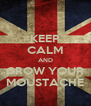 KEEP CALM AND GROW YOUR MOUSTACHE - Personalised Poster A4 size