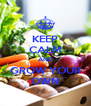 KEEP CALM AND GROW YOUR OWN - Personalised Poster A4 size