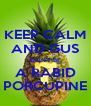 KEEP CALM AND GUS DON'T BE A RABID PORCUPINE - Personalised Poster A4 size