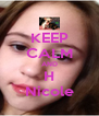 KEEP CALM AND H Nicole - Personalised Poster A4 size
