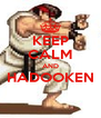 KEEP CALM AND HADOOKEN  - Personalised Poster A4 size