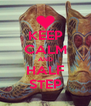KEEP CALM AND HALF STEP - Personalised Poster A4 size