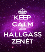 KEEP CALM AND HALLGASS ZENÉT - Personalised Poster A4 size