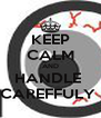KEEP CALM AND HANDLE  CAREFFULY  - Personalised Poster A4 size