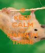 KEEP CALM AND HANG IN THERE - Personalised Poster A4 size