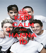 KEEP CALM AND HANNA 1D - Personalised Poster A4 size