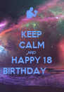 KEEP CALM AND HAPPY 18 BIRTHDAY        - Personalised Poster A4 size