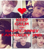 KEEP CALM AND HAPPY ANNIV FANADICKY 2ND - Personalised Poster A4 size