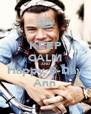 KEEP CALM AND Happy B-Day Ann - Personalised Poster A4 size