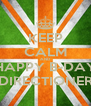 KEEP CALM AND HAPPY B-DAY DIRECTIONER - Personalised Poster A4 size