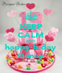 KEEP CALM AND happy b-day Günay - Personalised Poster A4 size