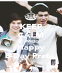 KEEP CALM AND Happy B-Day Preta  - Personalised Poster A4 size
