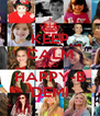 KEEP CALM AND HAPPY-B DEMI - Personalised Poster A4 size