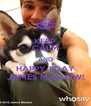 KEEP CALM AND HAPPY BDAY JAMES MASLOW! - Personalised Poster A4 size