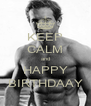 KEEP CALM and HAPPY BIRTHDAAY - Personalised Poster A4 size