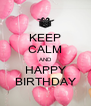 KEEP CALM AND HAPPY BIRTHDAY - Personalised Poster A4 size