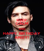 KEEP CALM AND HAPPY BIRTHDAY ANDY! - Personalised Poster A4 size