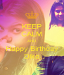 KEEP CALM AND Happy Birthday Diko - Personalised Poster A4 size