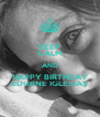 KEEP CALM AND HAPPY BIRTHDAY EDURNE IGLESIAS - Personalised Poster A4 size