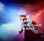 KEEP CALM AND HAPPY BIRTHDAY ERIC SAADE - Personalised Poster A4 size