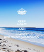 KEEP CALM AND HAPPY BIRTHDAY GAJENDRA  - Personalised Poster A4 size