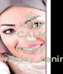 KEEP CALM AND Happy  Birthday  hanin  - Personalised Poster A4 size