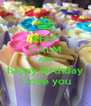 KEEP CALM AND happy birthday I love you - Personalised Poster A4 size