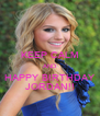 KEEP CALM AND HAPPY BIRTHDAY JORDAN!! - Personalised Poster A4 size