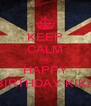 KEEP CALM AND HAPPY BIRTHDAY KIKA - Personalised Poster A4 size