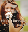 KEEP CALM  and Happy Birthday Krystal Jung - Personalised Poster A4 size