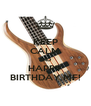 KEEP CALM AND HAPPY BIRTHDAY MF! - Personalised Poster A4 size
