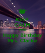 KEEP CALM AND Happy Birthday Mrs. Clarke - Personalised Poster A4 size