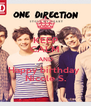 KEEP CALM AND Happy birthday  Nicole S. - Personalised Poster A4 size